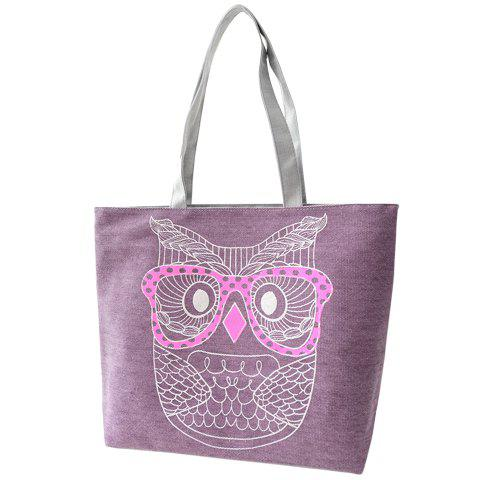 Casual Owl Pattern and Canvas Design Women's Shoulder Bag