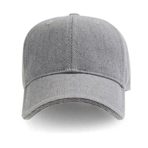 Stylish Simple Outdoor Casual Baseball Cap For Men - LIGHT GRAY