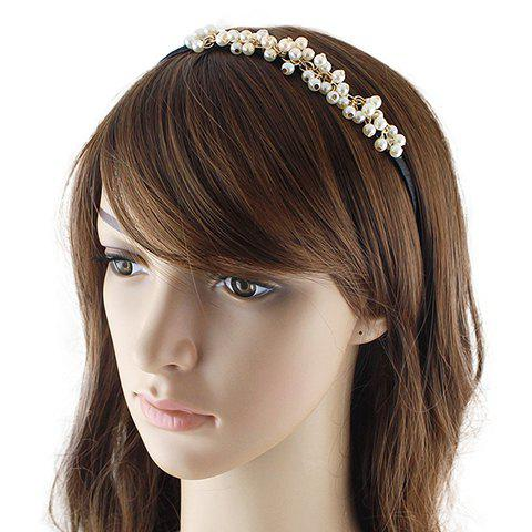 Cute Faux Pearl Hairband For Women