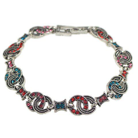 Chic Rhinestone Round Hollow Out Bracelet For Women