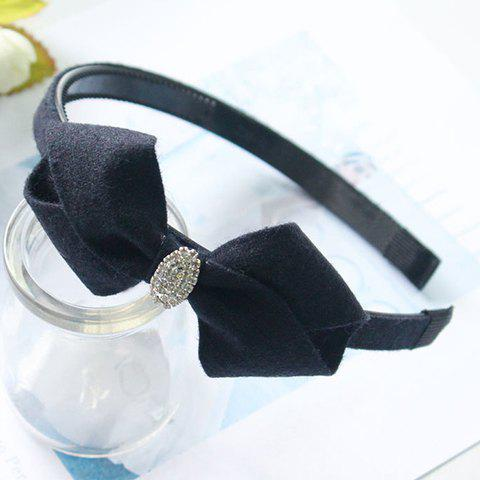 Pair of Dolce Bowknot Shape Rhinestone Hairband For Women - PURPLISH BLUE