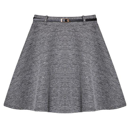 Casual Grey Skirt For Women - GRAY XL