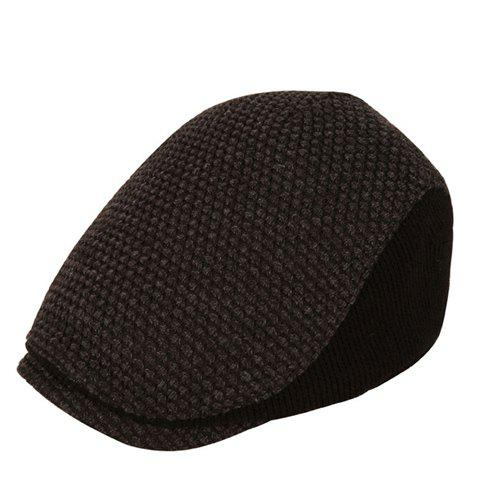 Stylish Simple Thicken Winter Beret For Men - DEEP GRAY