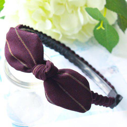 Chic Woven Bowknot Hairband For Women - PURPLE