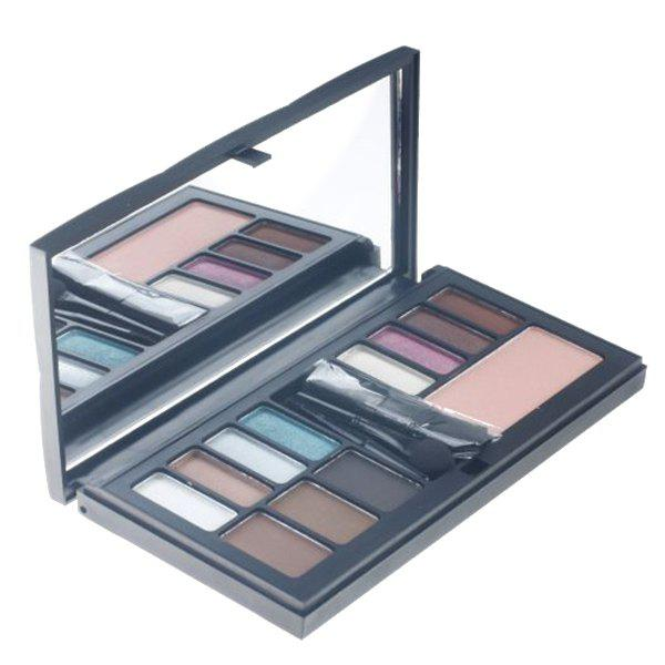 Professional 12 Colours Makeup Set Palette with Mirror and Brush - COLORMIX