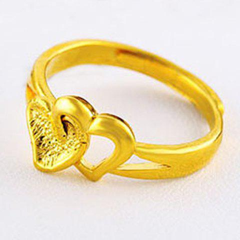 Noble Solid Color Heart Shape Cuff Ring For Women