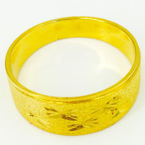 Stunning Solid Color Star Carved Ring For Women
