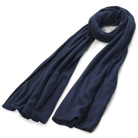 Chic Solid Color Winter Fleeces Scarf For Women - PURPLISH BLUE