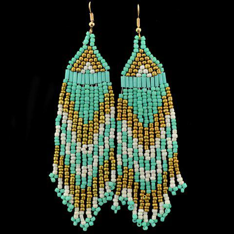 Stylish Exaggerated Beads Earrings For Women - LIGHT BLUE