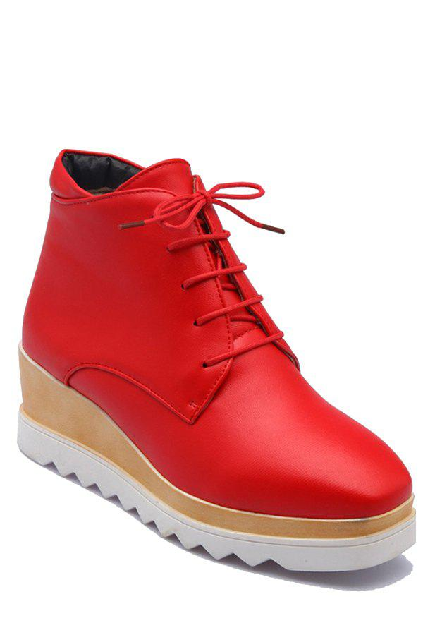Trendy Square Toe And Platform Design Womens Short Boots