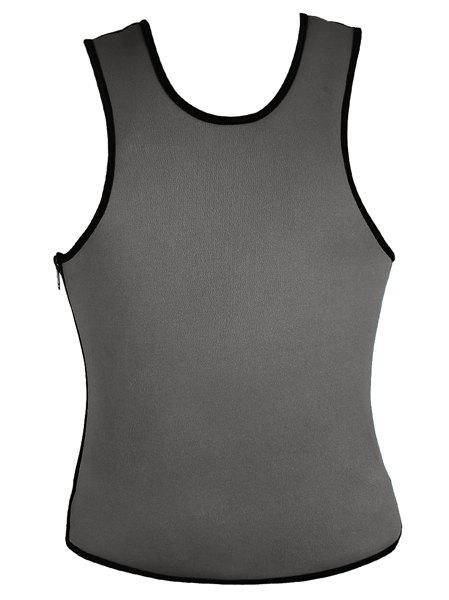 Vogue Round Neck Side Zipper Design Sleeveless Men's Sexy Corset - GRAY 4XL