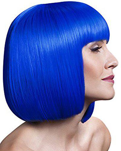 Bob Style Synthetic Assorted Color Gorgeous Short Straight Universal Cosplay Wig For Women - BLUE