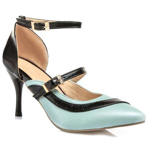 Graceful Two-Piece and Color Block Design Women's Pumps