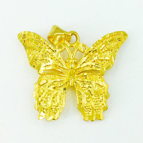 Noble Hollow Out Butterfly Shape Pendant For Women - GOLDEN