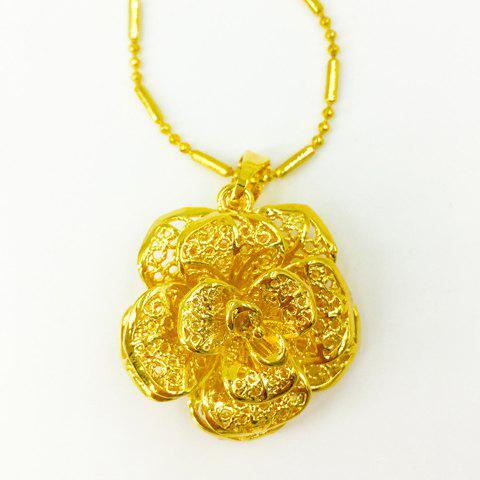 Noble Solid Color Flower Shape Pendant For Women - GOLDEN