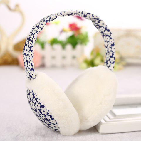 Chic Tiny Floral Pattern Downy Earmuff For Women
