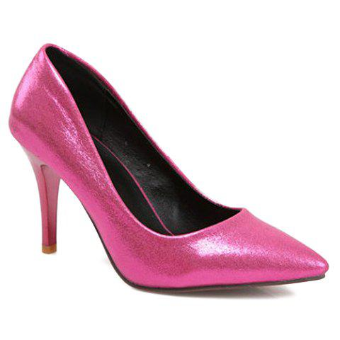 Fashionable Solid Colour and Stiletto Heel Design Pumps For Women - ROSE 34