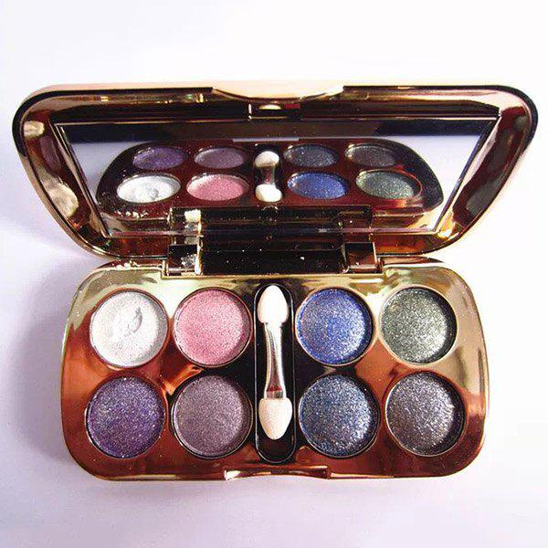 Professional 8 Colours Diamond Eyeshadow Palette with Mirror and Brush