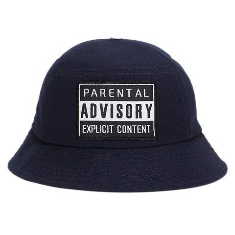 Stylish Letters Rectangle Embroidery Men's Bucket Hat - PURPLISH BLUE