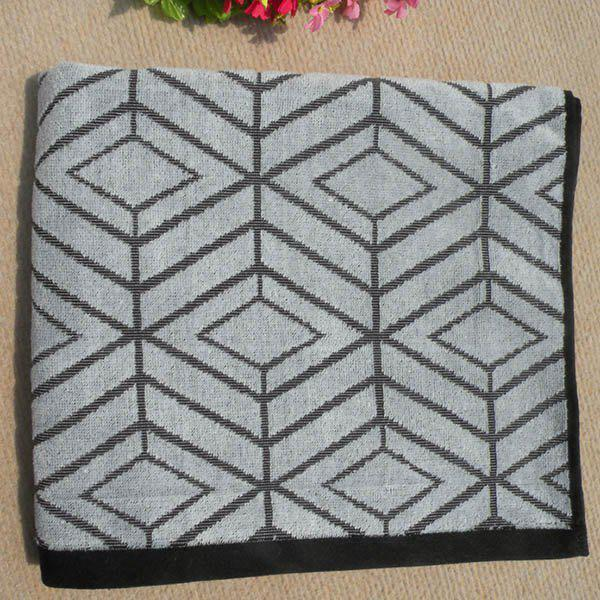 Chic Quality Soft Cotton Rhombus Pattern Strong Water Absorption Bath Towels