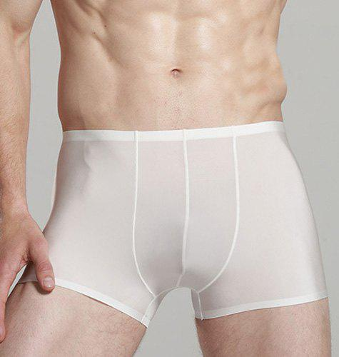Elastic Waist Solid Color Sexy Men's Boxer Brief