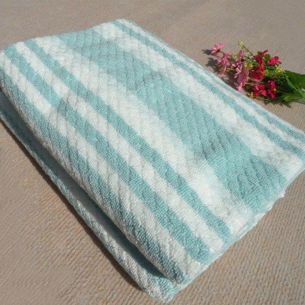 High Quality Color Block Stripe Pattern Soft Cotton Multifunction Towels - COLORMIX
