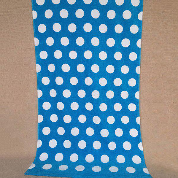 Fashion Polka Dot Pattern Super Absorbent Comfortable Cotton Beach Towel - BLUE