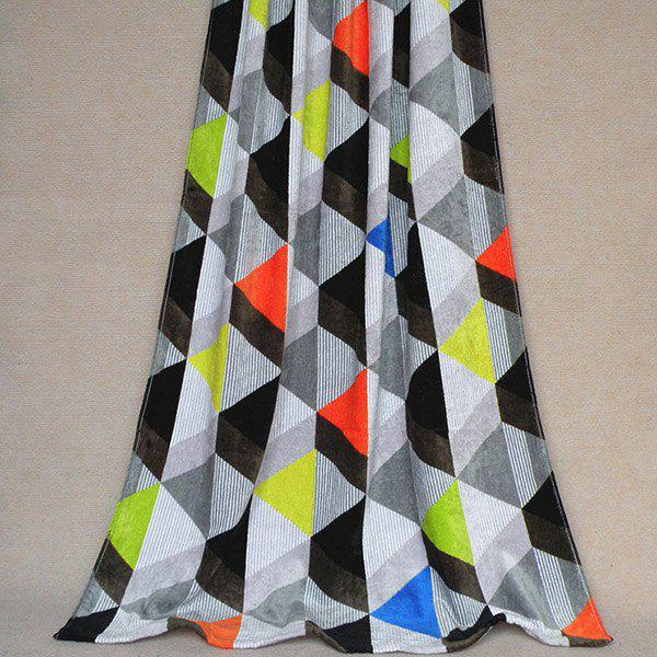 Classic Exquisite Soft Cotton Colorful Triangle Pattern Beach Towel - COLORMIX