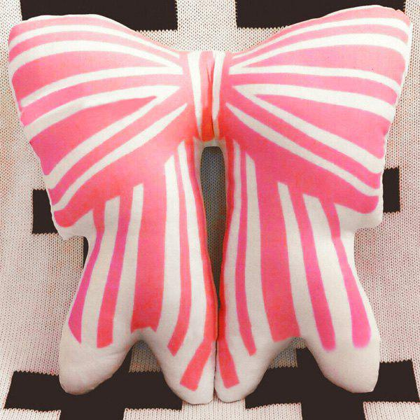 Cute Bowknot Shape Decorated Cushion Pillow - PINK