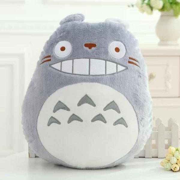 Fashionable My Neighbor Totoro Shape Cartoon Cushion Gray Pillow - GRAY