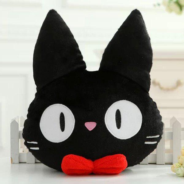 Fashionable Cat Shape Cartoon Cushion Black Pillow - BLACK