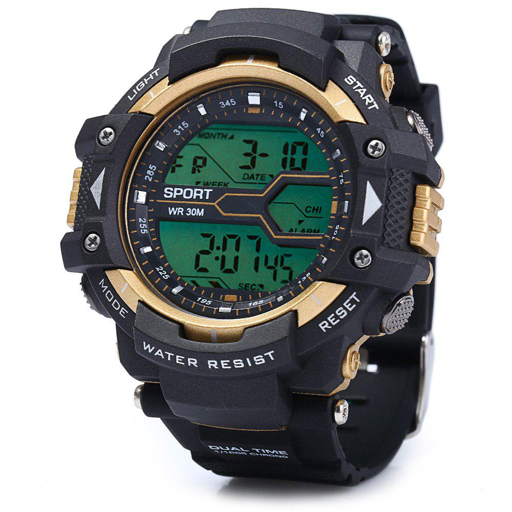 8338g alarm day date stopwatch display men led sports watch 8338g alarm day date stopwatch display men led sports watch golden
