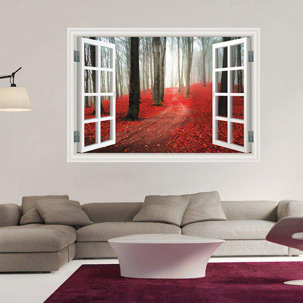 Modern Window Wood 3D Wall Sticker For Home Decor
