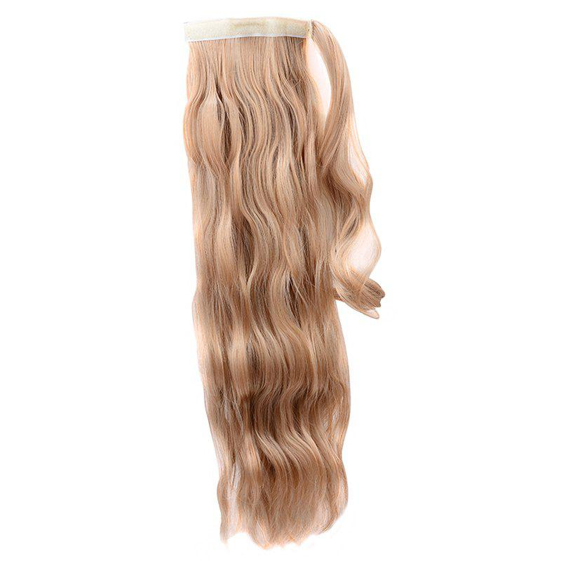 Trendy High Temperature Fiber Long Water Wave Ponytail For Women - GOLD BROWN