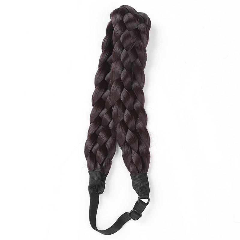 Charming Long High Temperature Fiber Braided Hair Extensions For Women - BLACK A