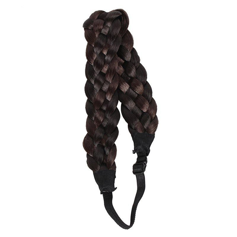 Women's Charming High Temperature Fiber Braided Hair Extensions - COLORMIX