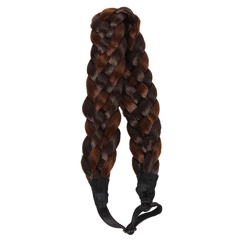 Charming Braided Hair Heat Resistant Fiber Extensions For Women - COLORMIX
