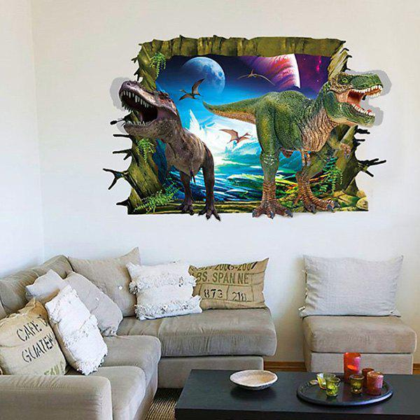 Cute 3D Dinosaur Removable Wall Sticker For Living Room japanese anime one piece original megahouse mh variable action heroes vah action figure portgas d ace