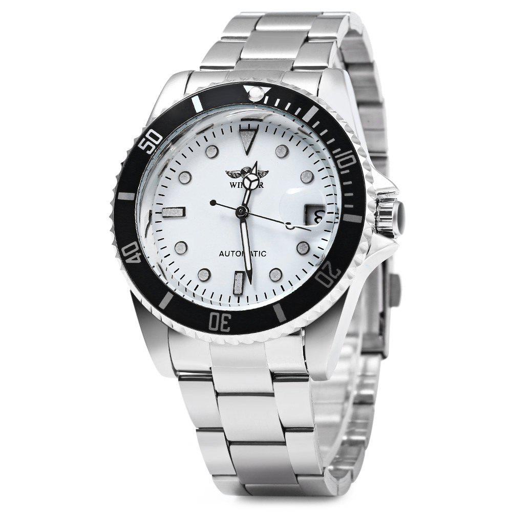 Winner W016 - 1 Automatic Mechanical Movement Men Watch Stainless Steel Band Date Display женская футболка hic t t hic 5572