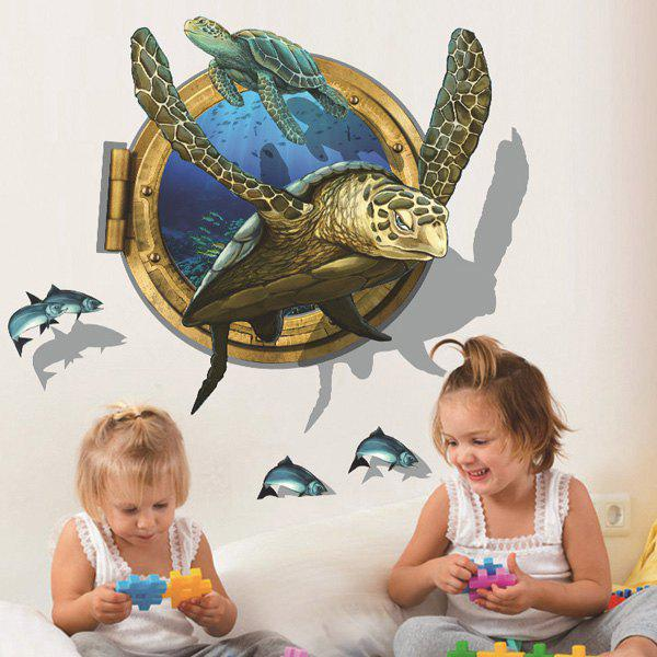 Creative Sea Turtle Pattern 3D Wall Sticker For Home Decor