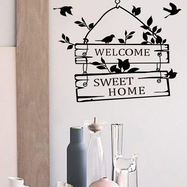 New Welcome Sweet Home Wall Sticker For Living Room