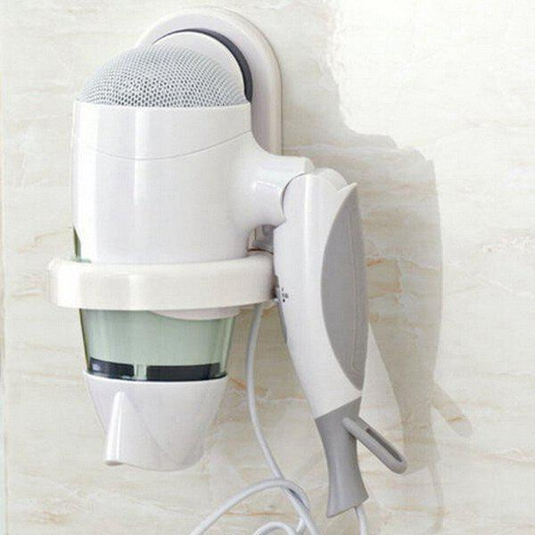 Removable Practical Wall Sucker Hair Dryer Holder - WHITE