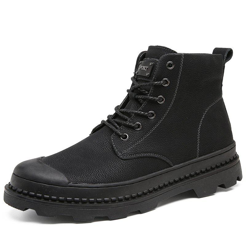 Stylish Leisure Solid Color Leather Boots фото