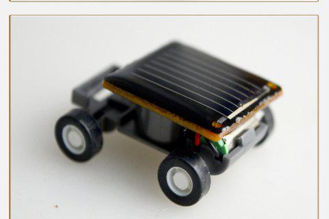 Toy Educational Toy Environmental Protection Mini Solar Car - BLACK