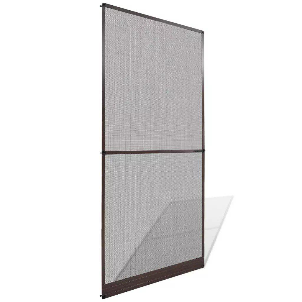 Brown Hinged Insect Screen for Doors 100 x 215 cm   141564 - BLACK