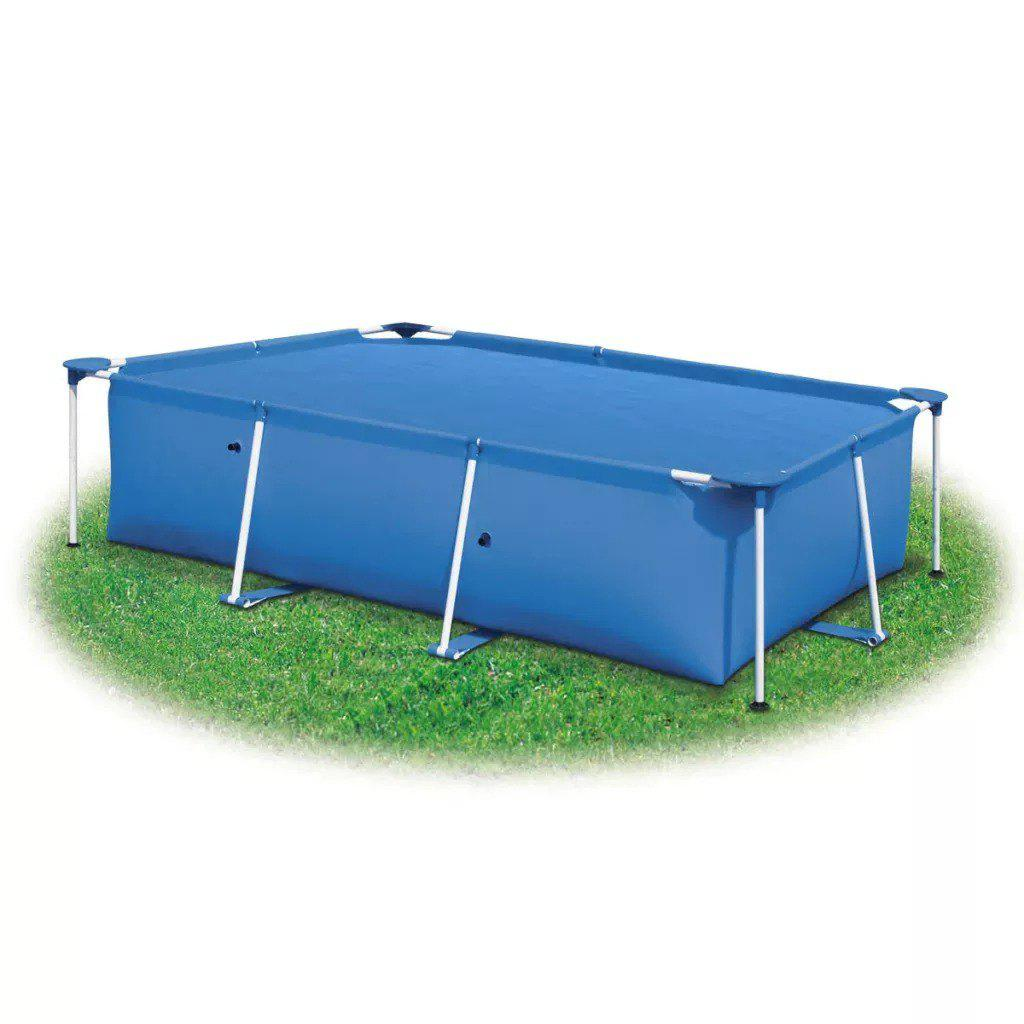 Rectangular Pool Cover 260 x 160 cm PE Blue   90675 - BLUE