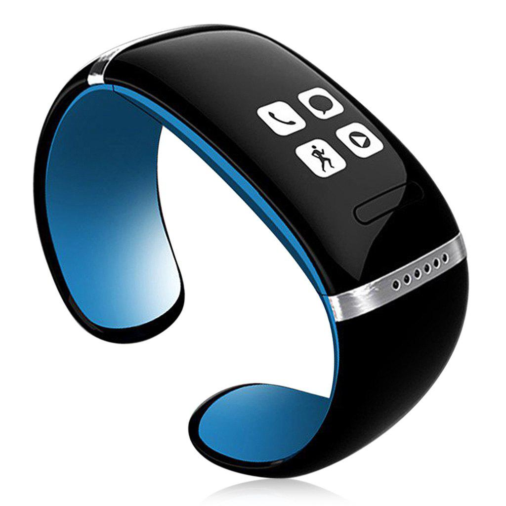 Newest L12S OLED Watch and Sports Pedometer Bluetooth Bracelet with Call ID Display / Answer / Dial / SMS Sync / Music Player / Anti-lost for Samsung / HTC + More - BLUE