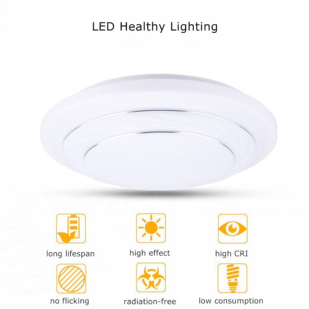 2018 Floureon® 24W Round LED Ceiling Light, white/ natural white ...