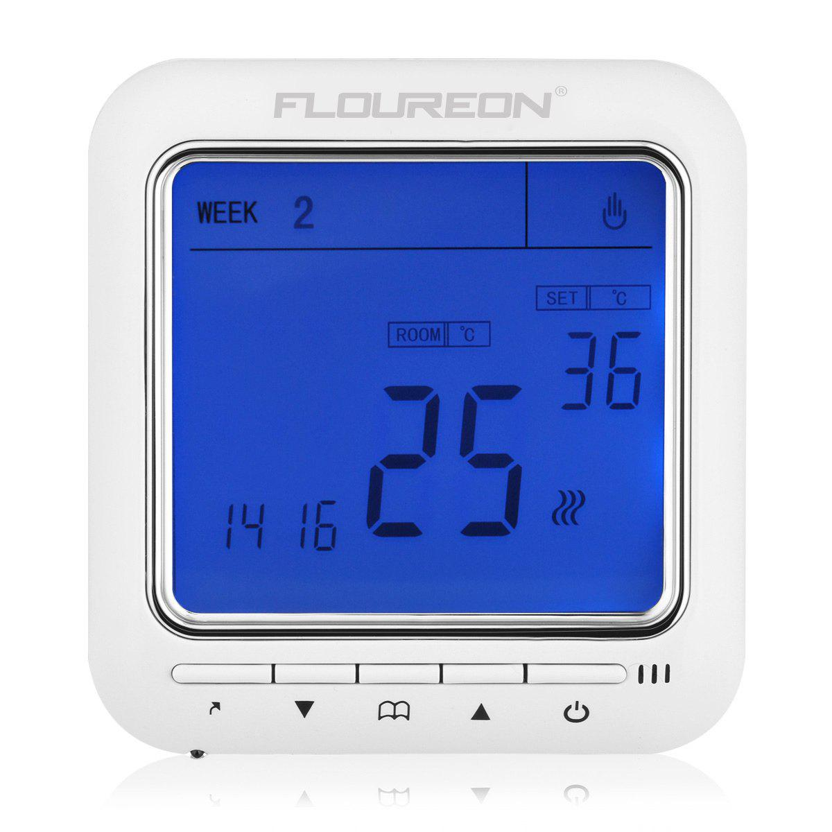 Floureon Digital Temperature Controller Thermostat LCD Display Blue - BLUE