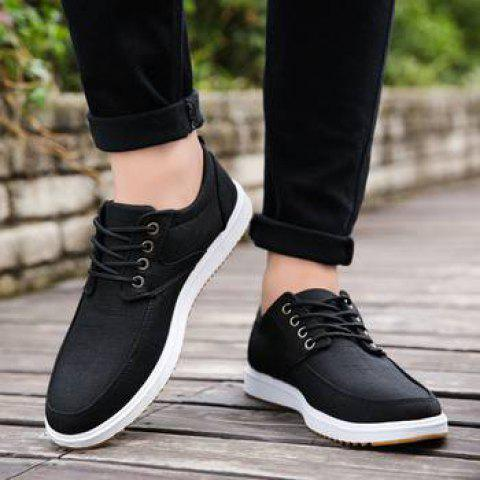 Hommes Sneakers Casual Respirant Casual Chaussures Confortables - Noir EU 39